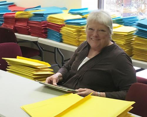 Pam Volunteering
